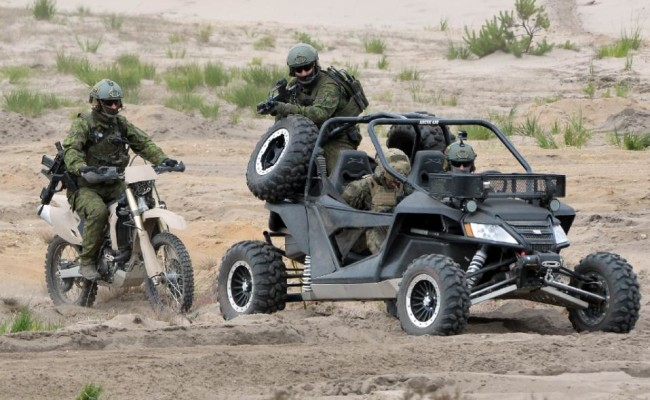 Arctic Cat Wildcat In Action as Part of NATO Military Training Excercise