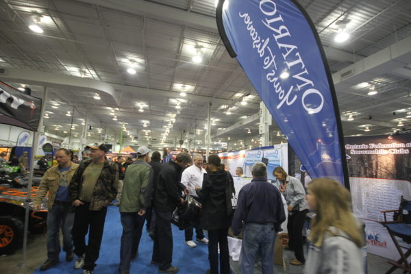 ONTARIO TOURISM TRAVEL PAVILION at The Toronto International Snowmobile, ATV & Powersports Show