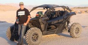 "Can-Am's newest side-by-side racer, ""Monster"" Matt Burroughs."