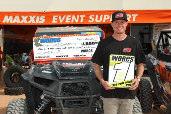 POLARIS RACER CODY BRADBURY WINS PRO SIDE-BY-SIDE CLASS IN WORCS ROUND 8