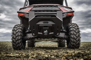 Huge bumper and full-skid plate give the new Ranger a menacing look.