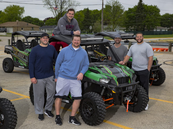 Aaron Rodgers Gifts Packer Offensive Line Vets with Custom Polaris General Vehicles