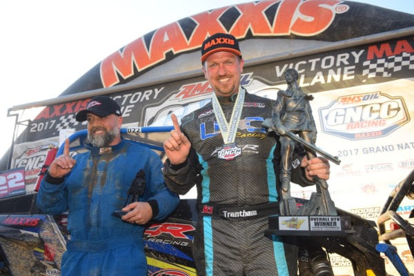 KEVIN TRANTHAM SCORES VICTORY IN MOUNTAINEER RUN GNCC UTV ACTION