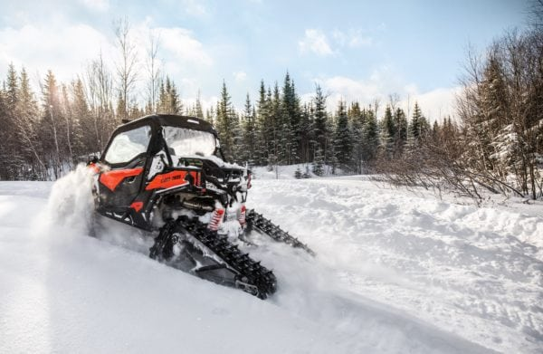 CAN-AM MAVERICK BREAKS FREE FROM THE SHACKLES OF WINTER WITH NEW APACHE TRACK KIT