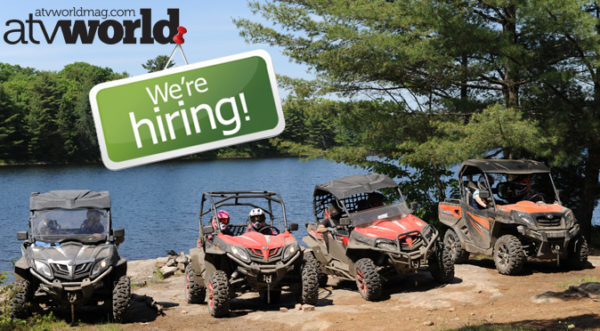 ATV WORLD MAGAZINE IS HIRING IN WILLOW BEACH, ONTARIO, CANADA!