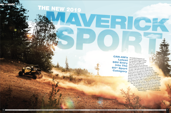 2019 CAN-AM MAVERICK SPORT