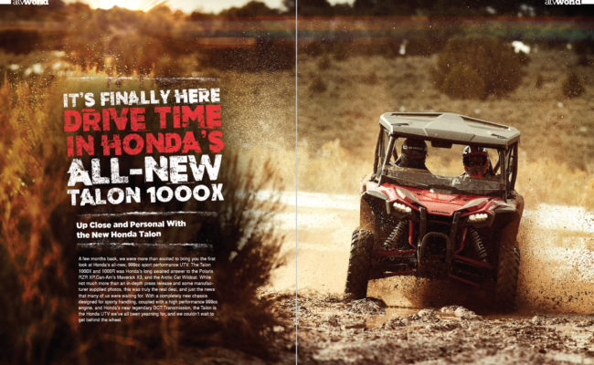IT'S FINALLY HERE, DRIVE TIME IN HONDA'S ALL-NEW TALON 1000X