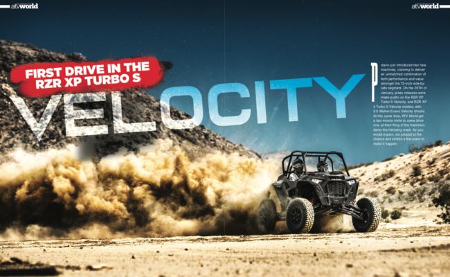 ATV WORLD'S FIRST DRIVE IN THE RZR XP TURBO S VELOCITY