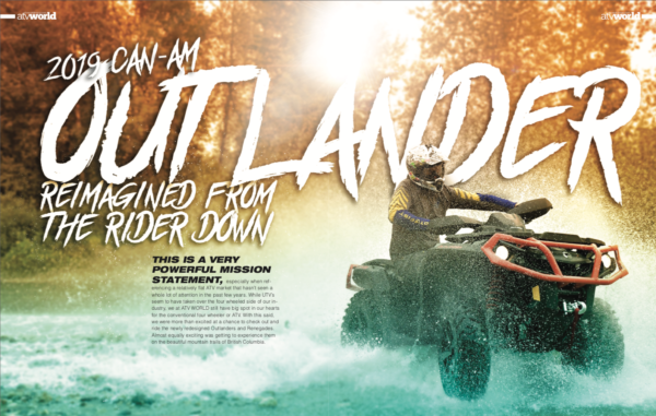 2019 CAN AM OUTLANDER, REIMAGINED FROM THE RIDER DOWN