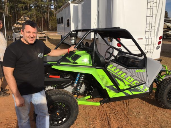 Tony Stewart Gets Down in Durhamtown With a Wildcat Side-x-Side