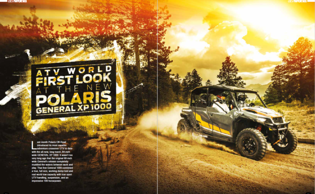 ATV WORLD'S FIRST LOOK AT THE NEW POLARIS GENERAL XP 1000