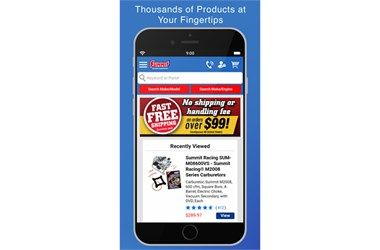 SUMMIT RACING OFFERS MOBILE APP