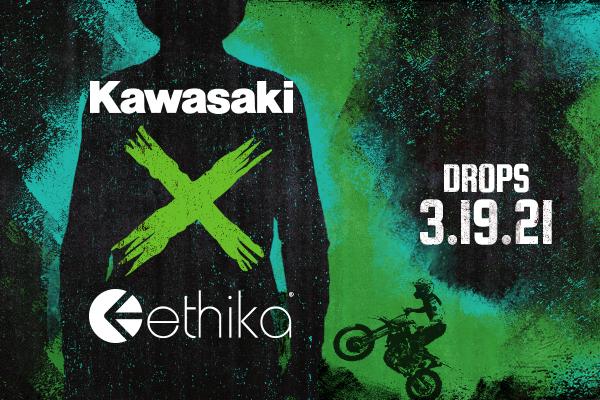 Kawasaki has teamed up with Ethika®